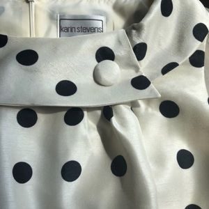 Polka dot boat neck wear to work dress